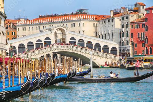 obraz dibond Rialtobrücke in Venedig