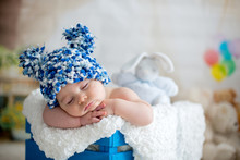 Little Baby Boy With Knitted H...