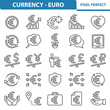 Currency - Euro Icons. Professional, pixel perfect icons depicting various finance, money and currency concepts. EPS 8 format.