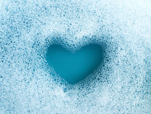 Heart Shape Formed From Soap S...