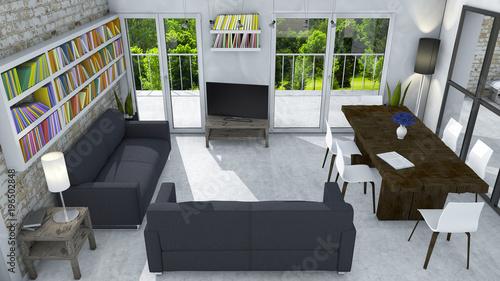 Arredamento dinterni soggiorno e arredamento moderno parete di