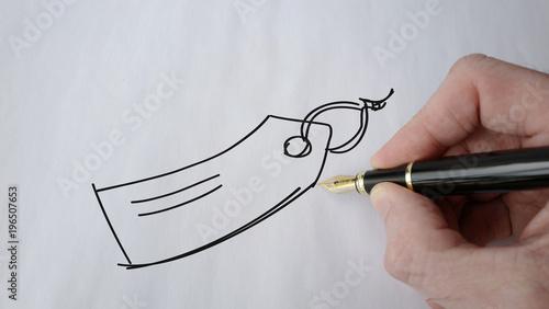 Valokuva  étiquette picto stylo plume