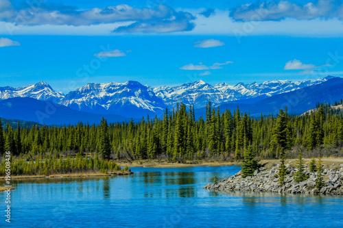 Photo Stands North Saskatchewan River, Aylmer Provinvial Recreation Area, Alberta, Canada