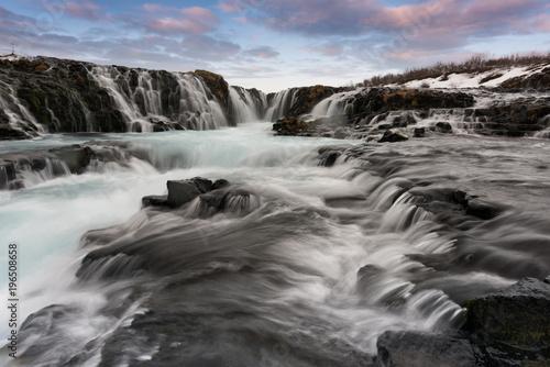 W sercu wodospadu Braurfoss. Islandia