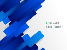 Abstract Geometric Blue Line Background. Modern Business Brochure, Leaflet, Flyer, Cover Template.