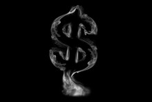Steam Or Smoke In Form Of A Dollar Sign