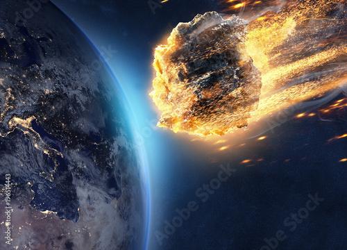 Asteroid fliegt auf Erde zu Wallpaper Mural