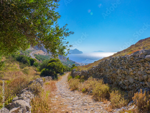 Amorgos island landscape, Cyclades, Greece Wallpaper Mural