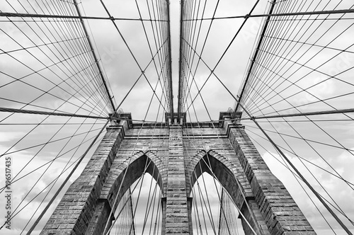 Spoed Foto op Canvas Brooklyn Bridge Brooklyn bridge in NYC, USA