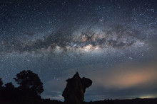 Core Of Milky Way Rise Above Kudat, Malaysia Sky. Image Contain Soft Focus And Noise Due To Long Expose And High ISO.