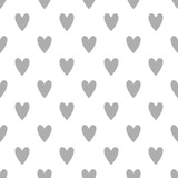 Seamless cute vector pattern with hearts - 196535655