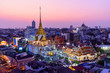 High view of Wat Traimitr Withayaram in sunset time
