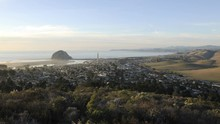 Motion Day To Night Time Lapse Looking Up Highway 1 And The Central Coast Above Morro Bay, California.