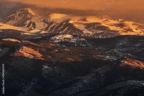 Deurstickers Canarische Eilanden Rocky Mountain Sunrise