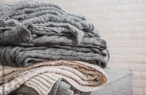 plaid textured gray beige stacked