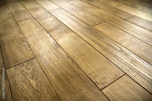 Obraz Natural brown texture wooden parquet floor boards - fototapety do salonu