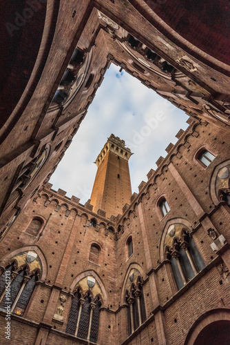 Fotografie, Obraz Siena (Italy) - The wonderful historic center of the famous city in Tuscany region, central italy, declared by UNESCO a World Heritage Site