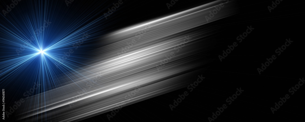 Fototapety, obrazy: Futuristic stripe panorama background design with lights