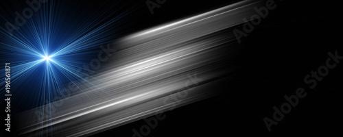 Photo  Futuristic stripe panorama background design with lights