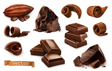 Chocolate. Pieces, Shavings, C...