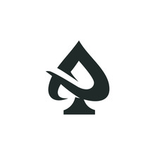 Ace Logo Vector Graphic Outline Minimalist