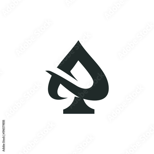 Photo  ace logo vector graphic outline minimalist