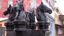 Horse Head Fountains In Selma, Alabama.