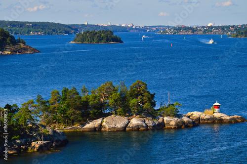 Staande foto Stockholm Islets of Stockholm Archipelago in Baltic Sea, Sweden