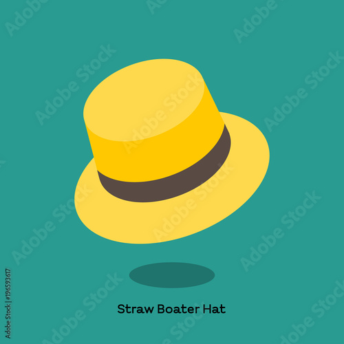 STRAW BRIMMED HAT