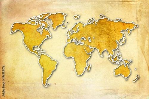 World map paint design art – kaufen Sie diese Illustration ...