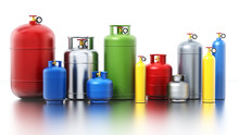 Multi-colored Gas Cylinders Is...