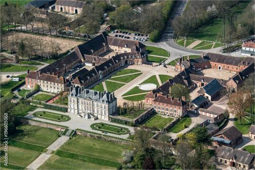 Fotografia  Vue aérienne du Haras National du Pin dans l'Orne en France
