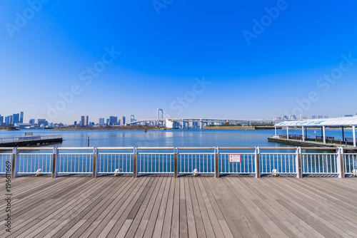 Fotomural  お台場海浜公園の船着場
