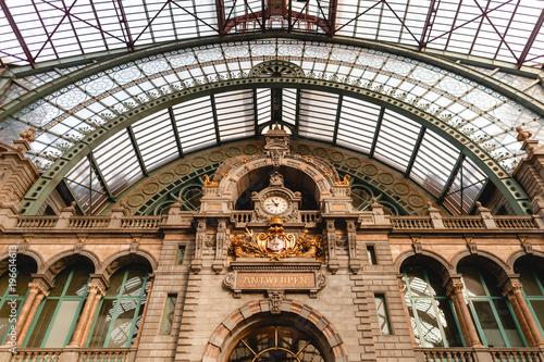 famous antwerpen-centraal station in Antwerp, Belgium