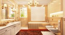 Bathroom Design In Classical Style