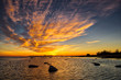 Abstract clouds in beautiful sunset