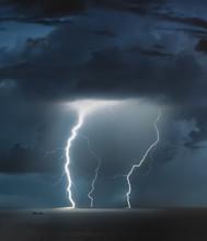 Lightning Bolts Reflection Ove...