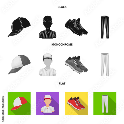 Photo  Baseball cap, player and other accessories