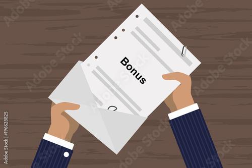 Person öffnet Brief - Bonus - Buy this stock vector and explore ...