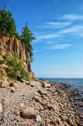 Obraz Gdynia Orlowo Cliff at Baltic Sea in Poland - fototapety do salonu