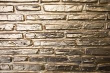 Golden Brick Wall Gold Backgro...