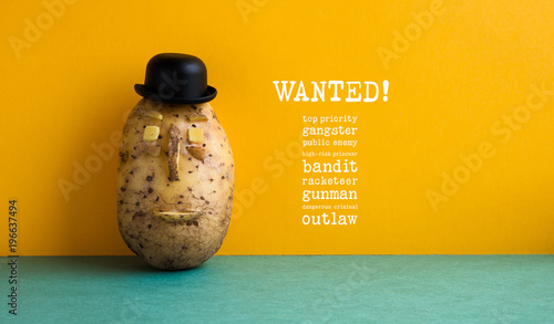 Wanted top priority potato gangster poster фототапет