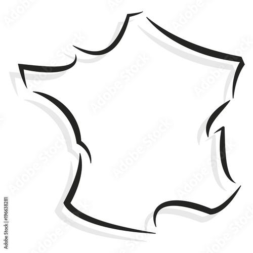 Fotografia, Obraz  France contour stylisé 02