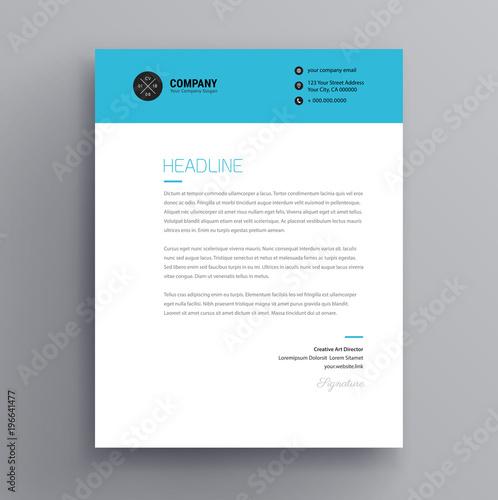 Elegant letterhead / cover letter template design in ...