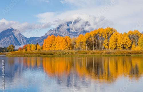 Deurstickers Honing Teton Scenic Autumn Reflection at Oxbow Bend