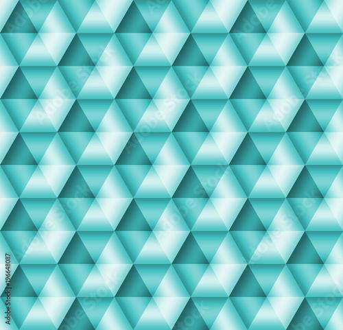 Keuken foto achterwand ZigZag Stock Illustration - Seamless Geometric Aqua 3D Pattern, 3D Illustration, Bright Background.