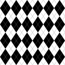 Black And White Argyle Seamles...