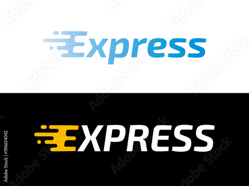 Transport logistic or Express delivery post mail logo for courier logistics shipping service Wallpaper Mural