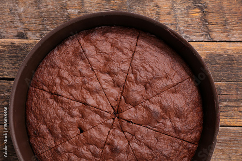 homemade chocolate cake Canvas Print
