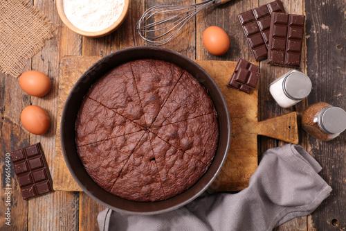 Photo  homemade chocolate cake